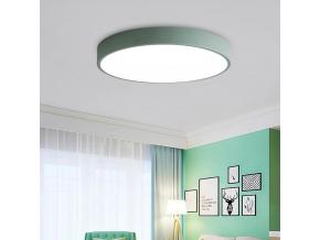 Zelený designový LED panel 500mm 36W teplá bílá
