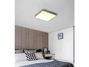 Šedý designový LED panel 400 x 400mm 24W teplá bílá