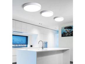 Šedý designový LED panel 600mm 48W denní bílá