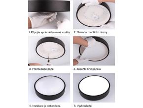 Žlutý designový LED panel 600mm 48W denní bílá