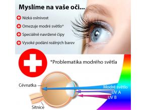 Žlutý designový LED panel 600 x 600mm 48W teplá bílá