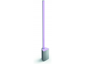 Philips Hue Bluetooth LED White and Color Ambiance stmívatelná Stolní lampa Philips Signe 40801/48/P9 stříbrná 2000K-6500K RGB 14W