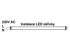 LED zářivka 60cm 9W SMD GXLT čirý kryt denní bílá