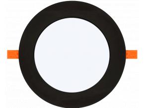Černý vestavný LED panel 3W kulatý 85mm teplá bílá