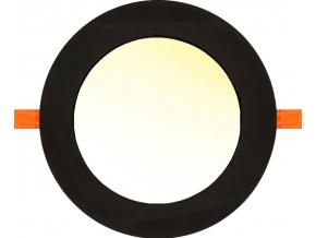 černý vestavný LED panel 6W čtverec 120x120mm teplá bílá