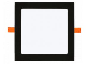 Černý vestavný LED panel 12W kulatý 170mm denní bílá