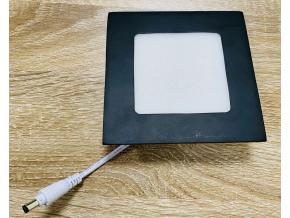 černý vestavný LED panel 18W kulatý 225mm denní bílá