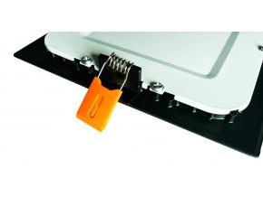 černý vestavný LED panel 24W kulatý 300mm teplá bílá