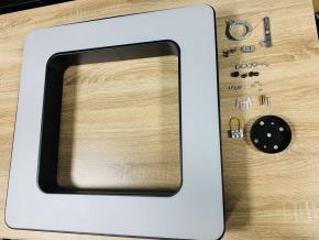 Černý stropní LED panel čtverec 36W denní bílá