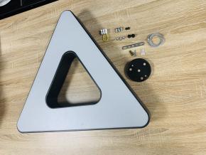 Černý stropní LED panel trojúhelník 36W denní bílá