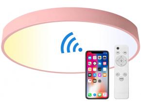 Růžový designový LED panel 500mm 36W smart CCT
