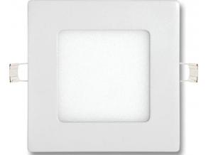 Stmívatelný bílý vestavný LED panel 120 x 120mm 6W denní bílá
