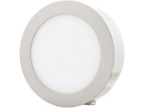 Stmívatelný chromový kruhový přisazený LED panel 225mm 18W teplá bílá