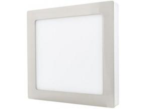 Stmívatelný chromový přisazený LED panel 175 x 175mm 12W denní bílá