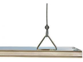 stříbrný závěsný LED panel 600 x 600mm 45W denní bílá 5000lm