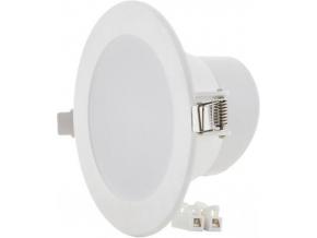 Bílé vestavné kulaté LED svítidlo 10W 115mm teplá bílá IP63