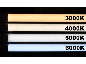 LED zářivka 60cm 10W čirý kryt denní bílá jednostranné