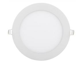 bílý kruhový vestavný LED panel 225mm 18W teplá bílá
