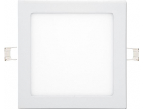 Bílý vestavný LED panel 225 x 225mm 18W denní bílá