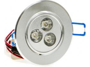 LED vestavné bodové svítidlo 3x 1W teplá bílá