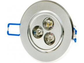 LED vestavné bodové svítidlo 3x 1W studená bílá