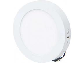 Bílý přisazený LED panel 175mm 12W teplá bílá