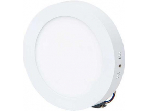 Bílý přisazený LED panel 175mm 12W denní bílá