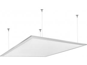 Stmívatelný bílý závěsný LED panel 600 x 600mm 48W studená bílá