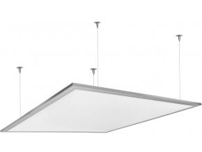 stříbrný závěsný LED panel 600 x 600mm 45W denní bílá 6000lm