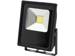 Černý LED reflektor 24V AC/DC 20W denní bílá