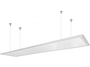 Stmívatelný bílý závěsný LED panel 300 x 1200mm 48W denní bílá