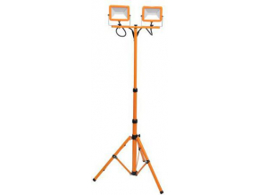 Oranžový LED reflektor s teleskopickým stojanem 2 x 30W denní bílá