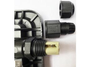 Černý LED reflektor 30W city 5000K denní bílá