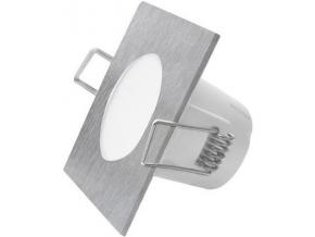 Broušený chrom vestavné podhledové LED svítidlo čtverec 5W denní bílá