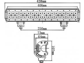 LED pracovní světlo 108W BAR2 10-30V