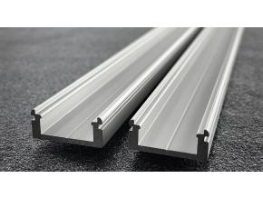 LED profil N8 nástěnný stříbrný 2m