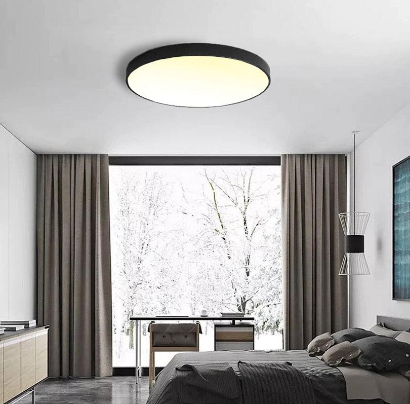 Čierny dizajnový LED panel 400mm 24W teplá biela