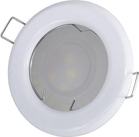 Biele vstavané podhledové LED svietidlo 5W teplá biela IP20 230V