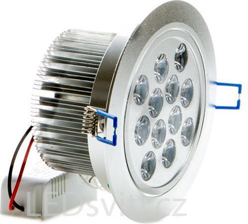 LED bodové svietidlo 12x 1W studená biela