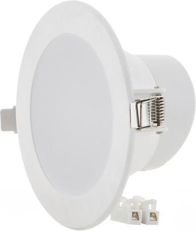 Biele vstavané okrúhle LED svietidlo 10W 115mm teplá biela IP63