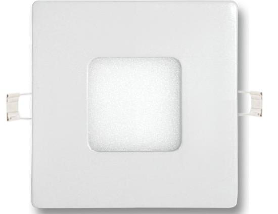 Stmievateĺný biely vstavaný LED panel 90 x 90mm 3W teplá biela