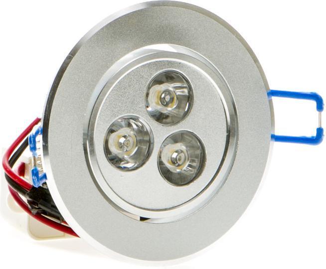 LED bodové svietidlo 3x 1W teplá biela