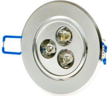 LED bodové svietidlo 3x 1W studená biela