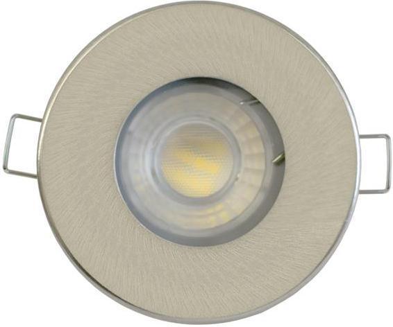 Nikl vstavané podhledové LED svietidlo 5W studená biela IP44 230V