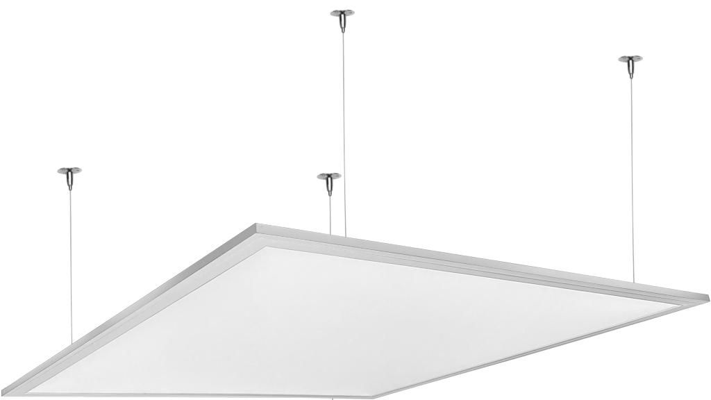Stmievateľné biely závesný LED panel 600 x 600mm 48W studená biela