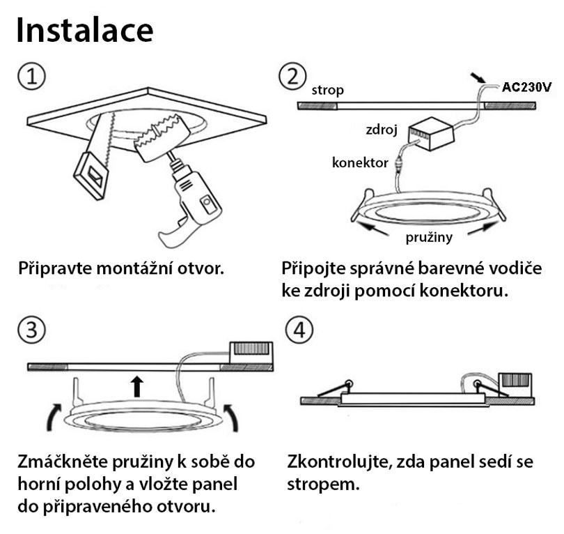 Chrom vstavané podhledové LED svietidlo 7W neutrálna biela IP44 230V
