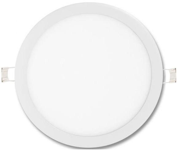 Stmievateľné biely kruhový vstavaný LED panel 600mm 48W neutrálna biela