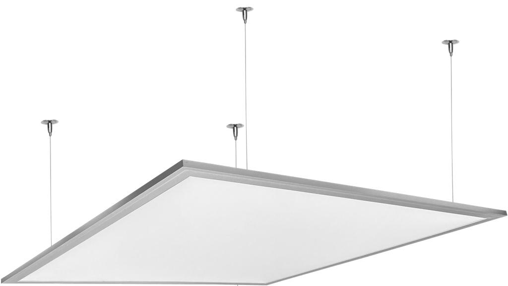 Strieborný závesný LED panel 600 x 600mm 45W neutrálna biela 6000lm