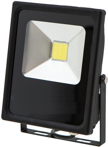 Čierny LED reflektor 24V 20W biela