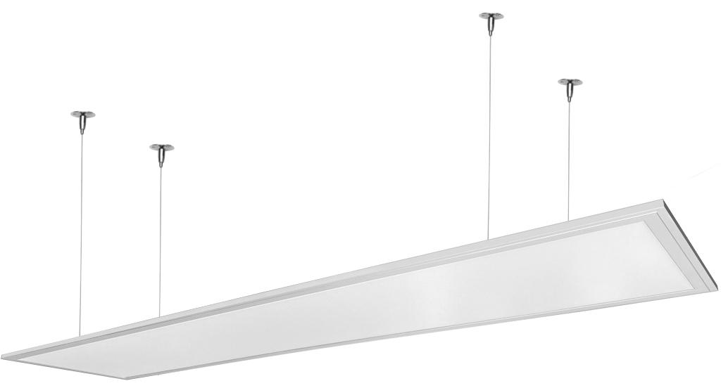 Stmievateľné biely závesný LED panel 300 x 1200mm 48W biela